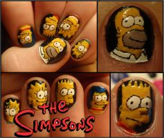the simpsons nails by Ninails