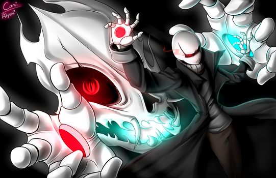 Gaster's new Special Attack  'Duality' - Collab by CamilaAnims