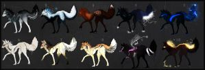 Adopts: 10 Canine.s ..+CLOSED+.. by Snow-Body