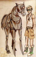 Richie and his robohorse by silvanoir