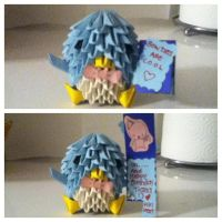 3D origami Penguin for my friend's birthday! :D by Kristy1997