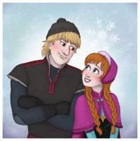 Frozen - Kristoff and Anna by Loony-Lucy