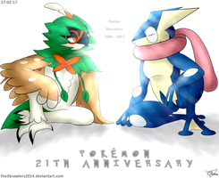 Happy Anniversary Pokemon - Grass and Water by The3Brawlers2014