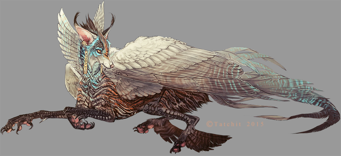 Blue Throated Winged Feonix design by NukeRooster
