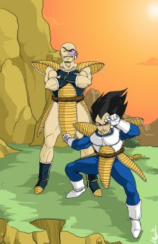 Vegeta 'n Nappa by Evilcaptainred