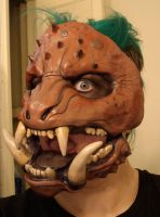Boar monster mask painted by missmonster