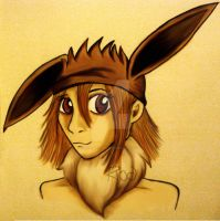 Eevee Hat by pink-anthony