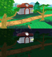 Pokemon Center/route 101 ORAS - MMD Stage by NipahMMD