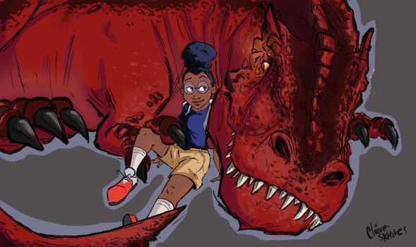 Moon Girl and Devil Dinosaur by Clairictures