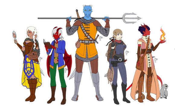 DnD - Eridans Player Party by MsLilly