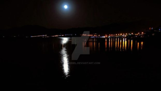 2012-09-20 dahab bay by night by Asmodiel
