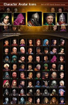 Character Avatar Icons by GraphicAssets