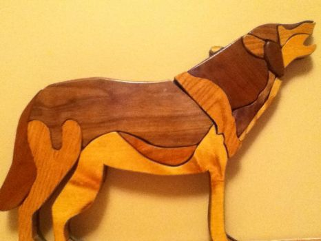 Howling Wolf Intarsia by howlingwolf142