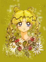 Flower Child Usagi, Colored by MarieZombie