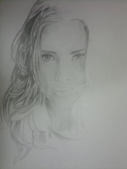 A2 Portrait Sketch - Scarlett Johansson (Partial) by Jay-emm-aye