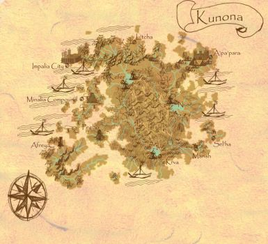 First attempt at Kunona, the Southern Continent by mizaria