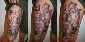 Buddha Flower Great leg  TaT by 2Face-Tattoo