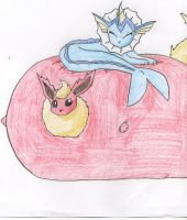 Water Filled Flareon by blackmage20