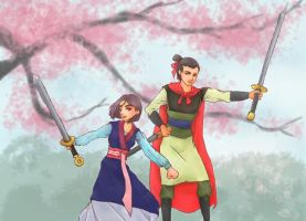 Mulan and Shang by security-blanket