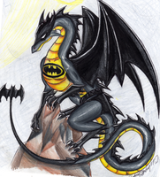 Batman's dragon all loaded grr by Talonclawfange