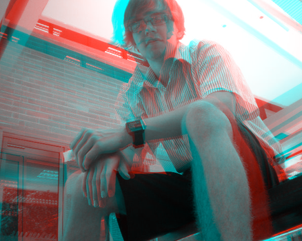 Anaglyph of friend by Kaptain-Kickass
