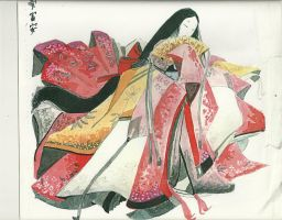 My first Heian Lady by Samael1103