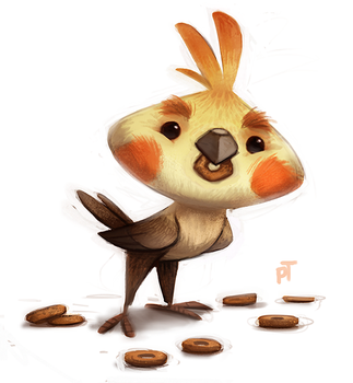 Day 580. Cockatiel by Cryptid-Creations