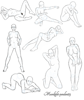 Pose Studies, Pack 1 by Moonlight-pendent13