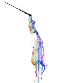 Unicorn girl by agnes-cecile