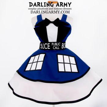TARDIS Suit -Doctor Who- Cosplay Pinafore by DarlingArmy