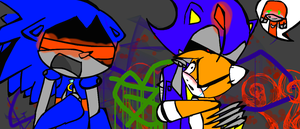 tails doll and metal and mecha and metal knuckles by sylviathecrazygirl