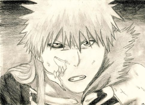 Ichigo Fighting Hollowfication by SilverSoul1496