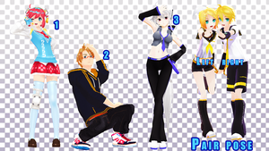 MMD Pose Pack 23 by Aisuchuu