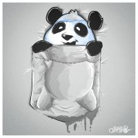 Panda in my FILLings POCKET VERSION by AlbertoArni