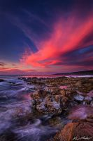 Sunset over Yallingup, Western Australia by paulmp