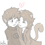 Karkitty and Nepeta by QuiteRomantic