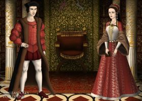 Juana la Loca and Felipe the Handsome by MoonMaiden37