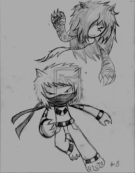 Random Sketch Month Picture #8: Xalin and Victoria by Kugglelovesanime9