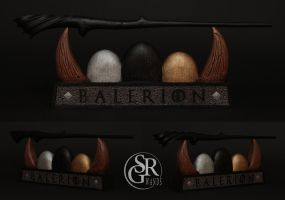 Special Wand No. 4 ''Balerion'' - Game of Thrones by SRG-Wands