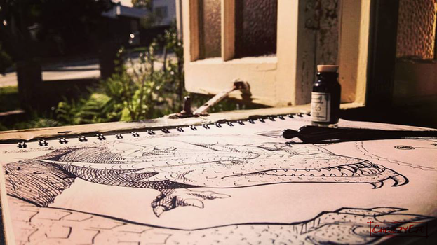 Photography - Inking in the sun by ChezzyEm