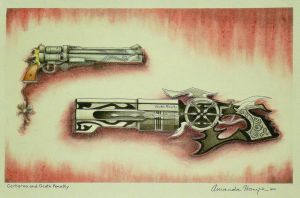 Cerberus and Death Penalty by LadyJuxtaposition