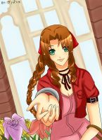 FF7-Aerith:Let me help you by Nahumania