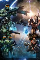 Halo Wars Theatrical Poster by Kakkay
