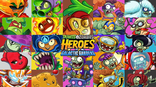 Plants vs Zombies Heroes Galactic Garden Wallpaper by PhotographerFerd