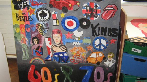 60's and 70's mural by JohntheFishLovesCurt