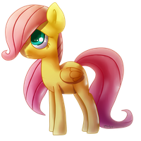 Filly Fluttershy by Zoiby