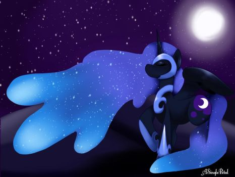 Nightmare moon by ASinglePetal