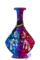 Ponies in a bottle: Lulu-lunei by Kodiiver