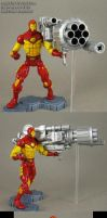 Custom Proton Cannon MvC2 Iron Man figure by Jin-Saotome