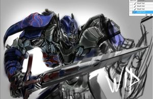 optimus prime Transformers 4 AoE by masdabboy